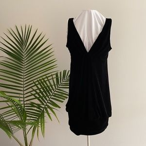 London Times Black Velvet Cocktail Dress / 10